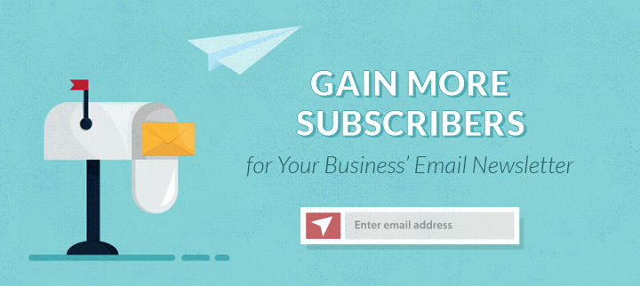 Gain Newsletter Subscribers