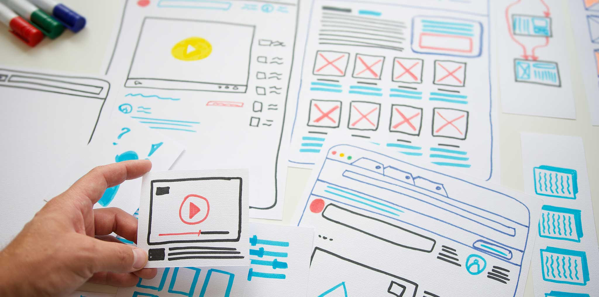paper cut outs of wireframe